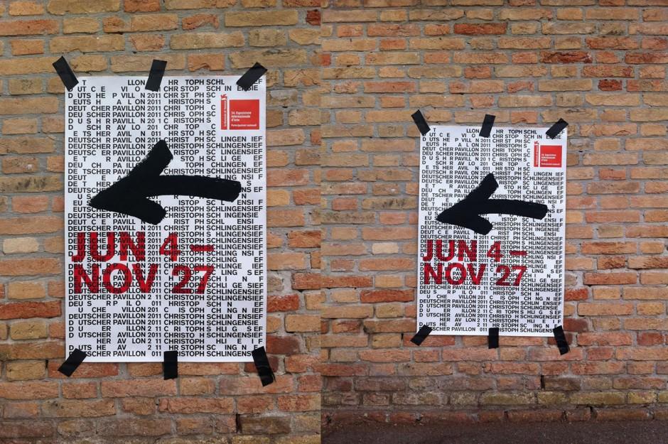 Plakat Deutscher Pavillon 2011