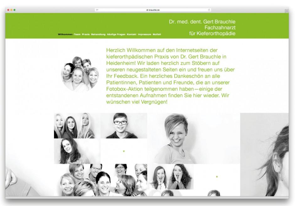 Visuelle Identität für die kieferorthopädische Praxis Dr. Brauchle