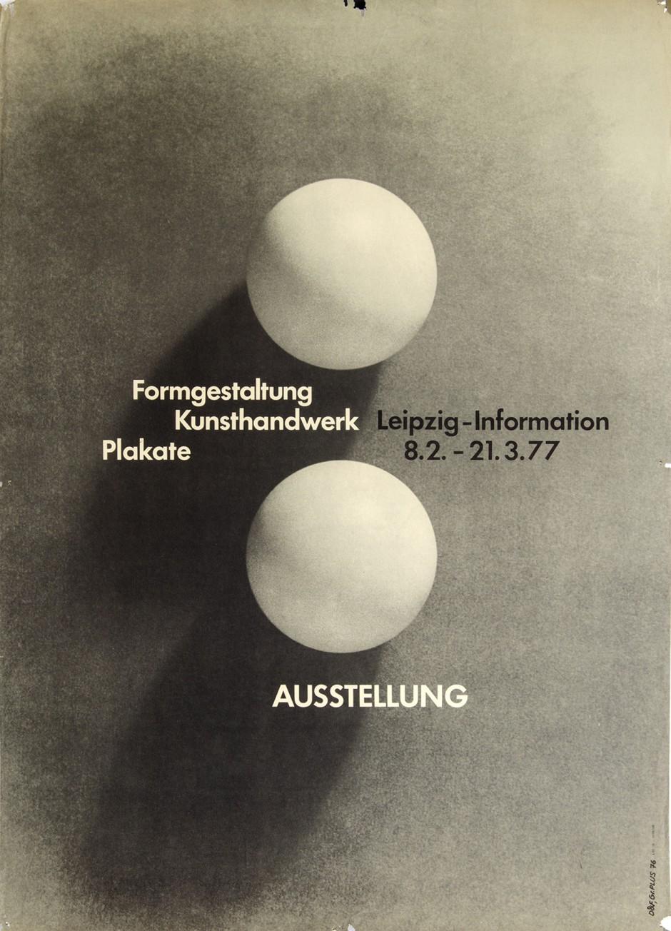 Gestalter: Jochen Fiedler Repro: Hochschularchiv Burg Giebichenstein Kunsthochschule Halle 59x82,5 cm