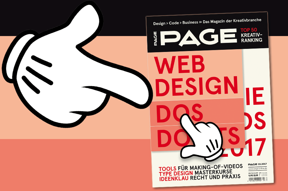 Titelthema: Webdesign – Die Dos & Don'ts für 2017