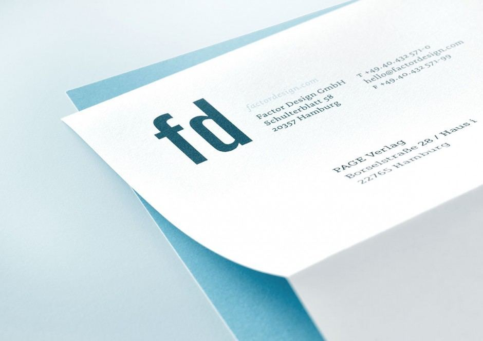 Factor Design – Briefbogen