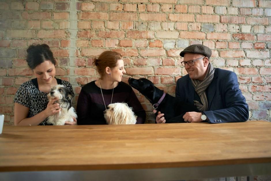Lieblingsplatz Küche mit Hund