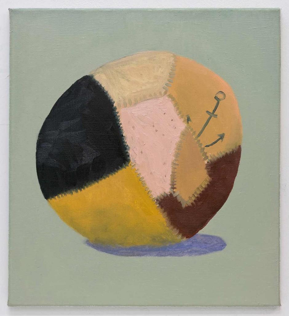 Skin Ball, 2012, Schwarz Contemporary, Berlin Öl auf Leinwand, 55 x 50 cm