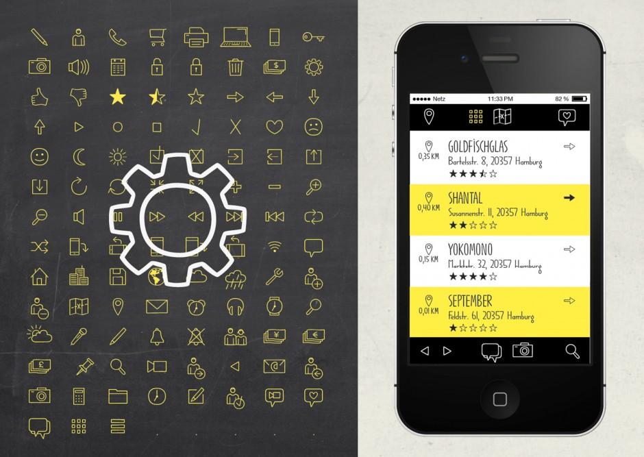 Ein besonderes Extra sind die rund 120 Web and App Icons, die mit ihrer handgemachten Optik überzeugen.
