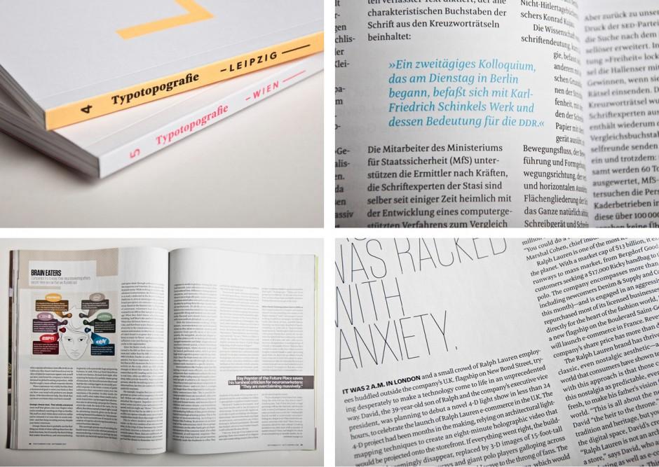 Meret wird unter u.a. von dem deutschen Magazin Typotopgraphie (siehe oben) und dem amerikanischen wirtschafts Magazin Fast Company (siehe unten) als Textschrift eingesetzt.