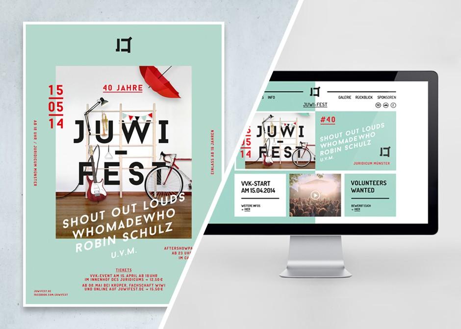 Plakatentwurf & Webdesign für ein Münsteraner Musikfestival (2014)