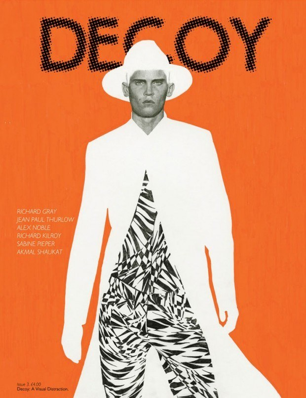 Cover-Illustration für »Decoy« von Richard Kilroy mit Model Will Eustace