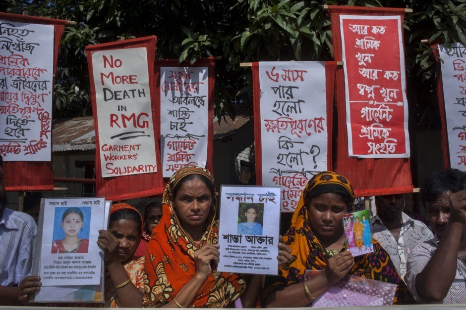 Taslima Akhter, Death of A Thousand Dreams, Protest against Rana Plaza Collapse. Relatives of Rana Plaza's workers are demanding justice, Savar, Bangladesh, 2013
