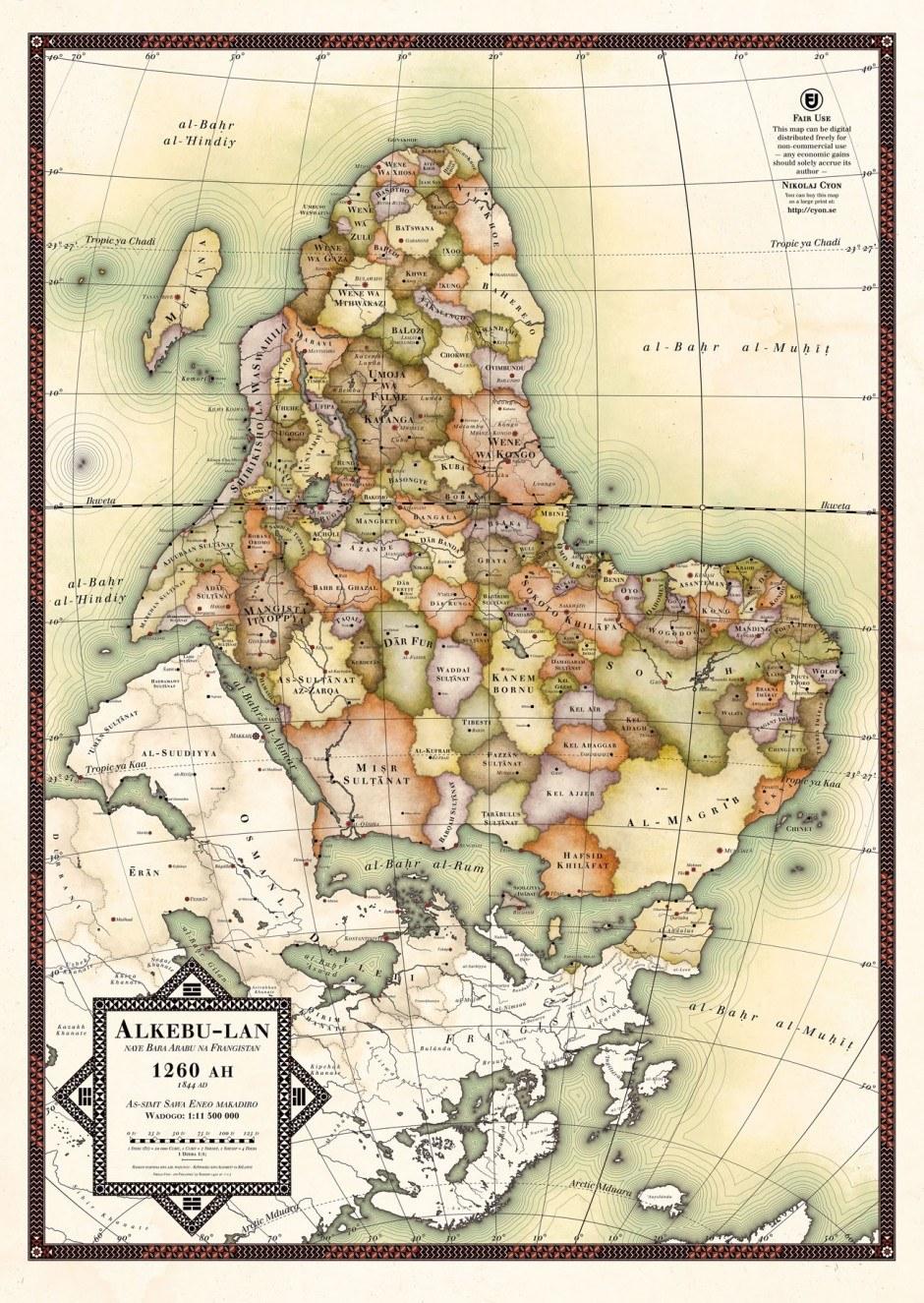 Poster, alternative Landkarte