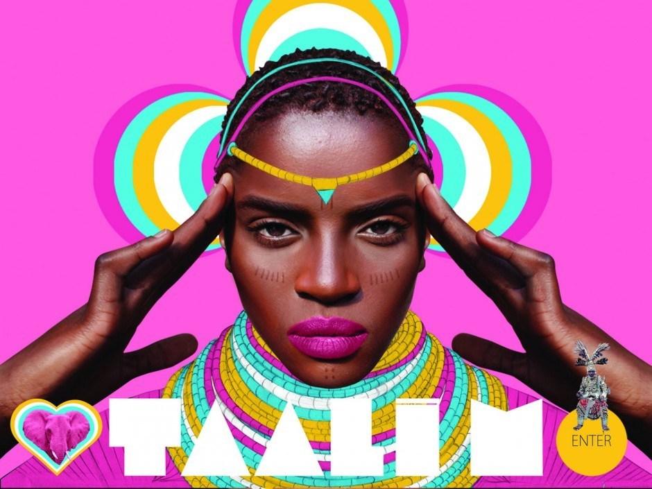 Website für die französisch-kongolesische Sängerin Taali M.