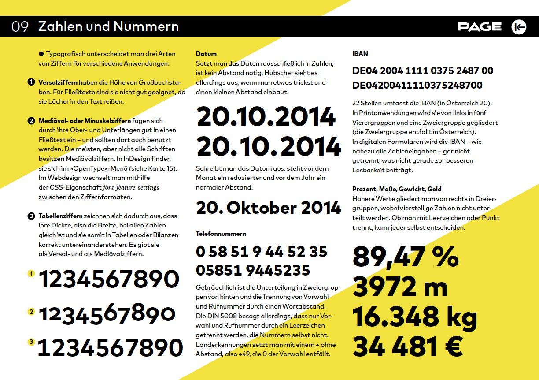 Typografie Tipps Zahlen Und Nummern Page Online