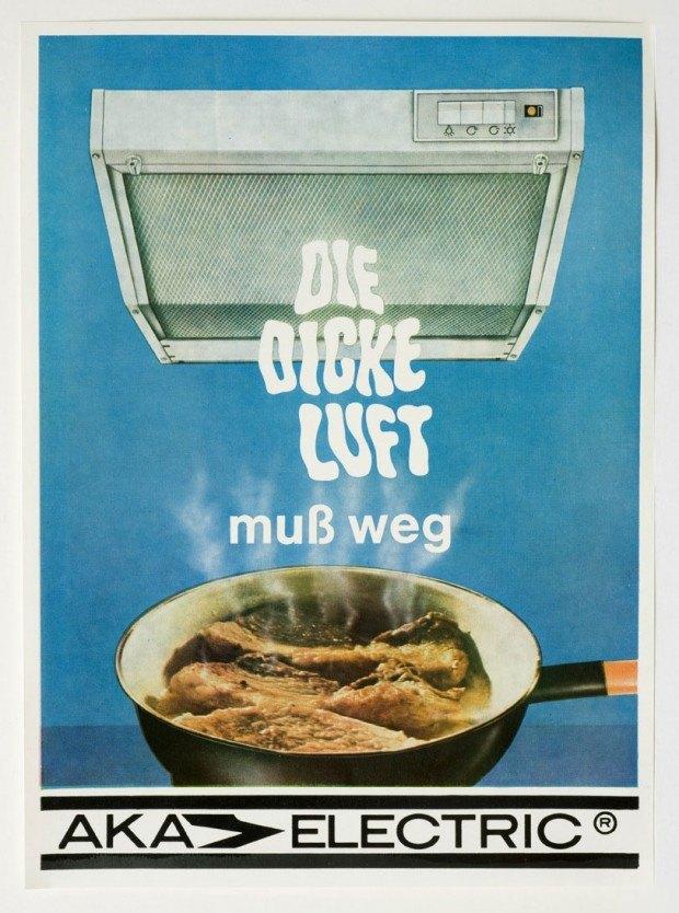Werbebeilage für Dunstabzugshauben der Firma Aka Electric, 1970er Jahre