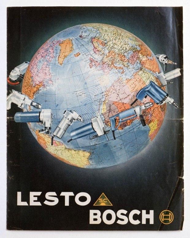 Werbeprospekt für Werkzeugmaschinen der Firmen Bosch und Lesto, 1960er Jahre