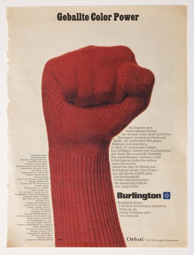 Magazinwerbung für Strümpfe der Firma Burlington, 1970er Jahre