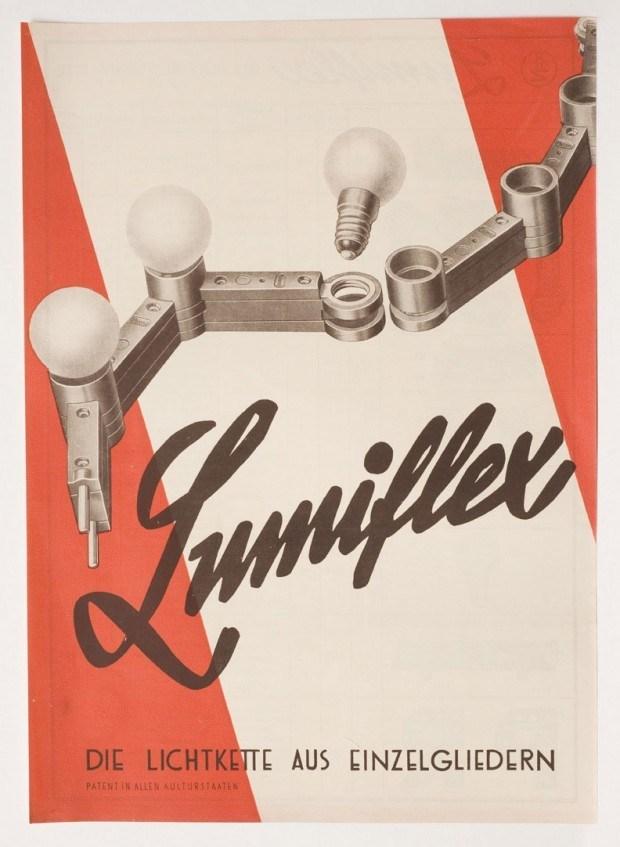 Werbebeilage für Lichterketten der Firma Lumiflex, 1930er Jahre