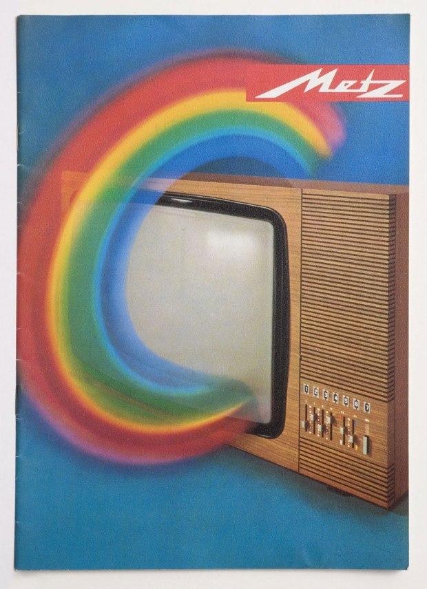 Werbeprospekt für Fernsehgeräte der Firma Metz, 1970er Jahre