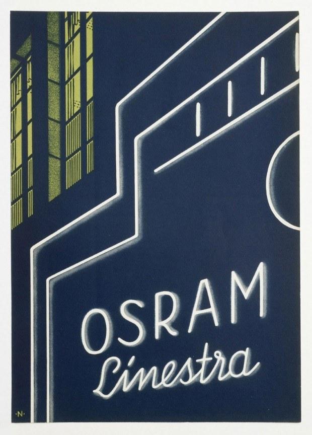 Werbebeilage der Firma Osram, 1930er Jahre