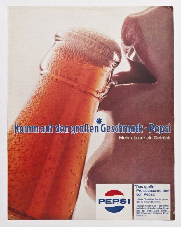Magazinwerbung der Firma Pepsi-Cola, 1970er Jahre