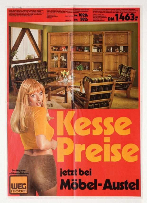 Werbeprospekt der Firma Weg Möbel, 1970er Jahre