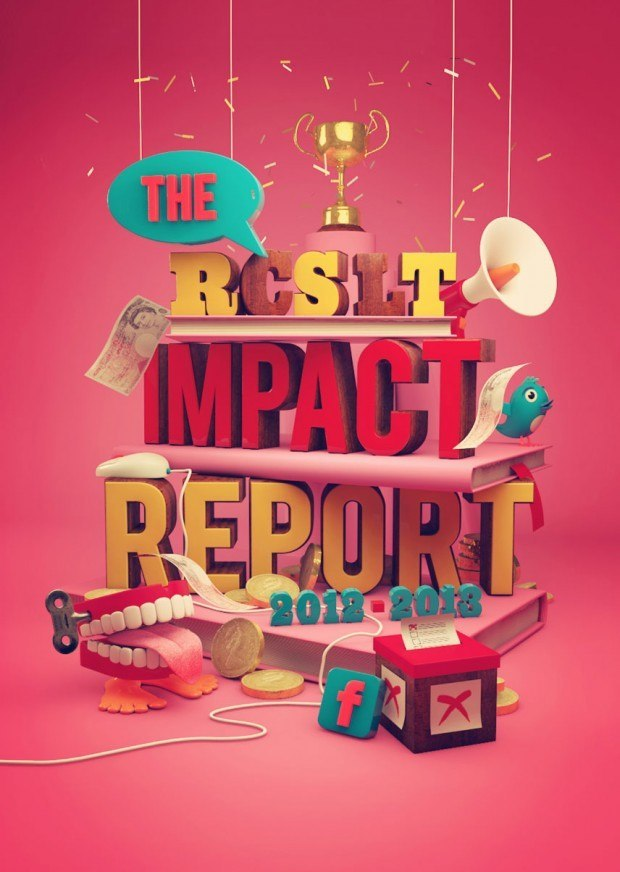 Cover illustrations for The Royal College of Speech and Language Therapists magazine and impact report