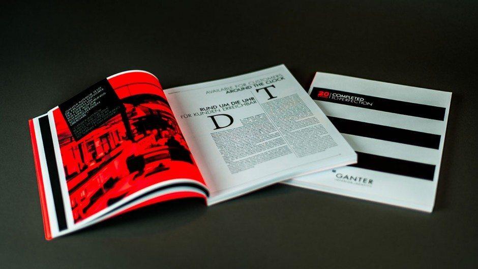 Kunde: Ganter Interior GmbH, www.ganter-interior.com   Papier Plano Plus, holzfreies, weißes, mattes Naturpapier