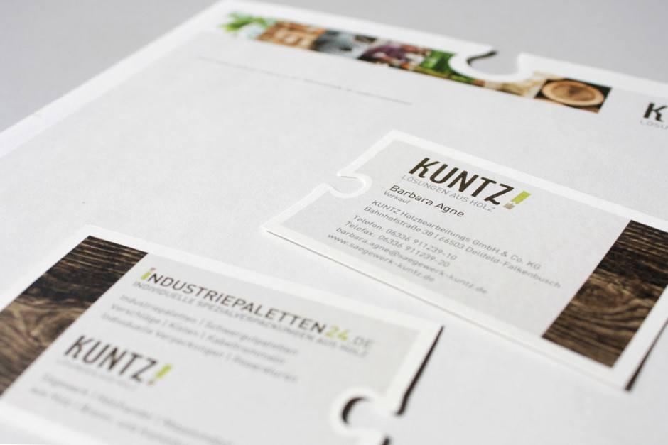 Papier Briefbogen 80g Naturpapier creme   Visitenkarten 300g Recyclingpapier   Imagebroschüre 300g Recyclingpapier (außen), 170g Recyclingpapier (innen)