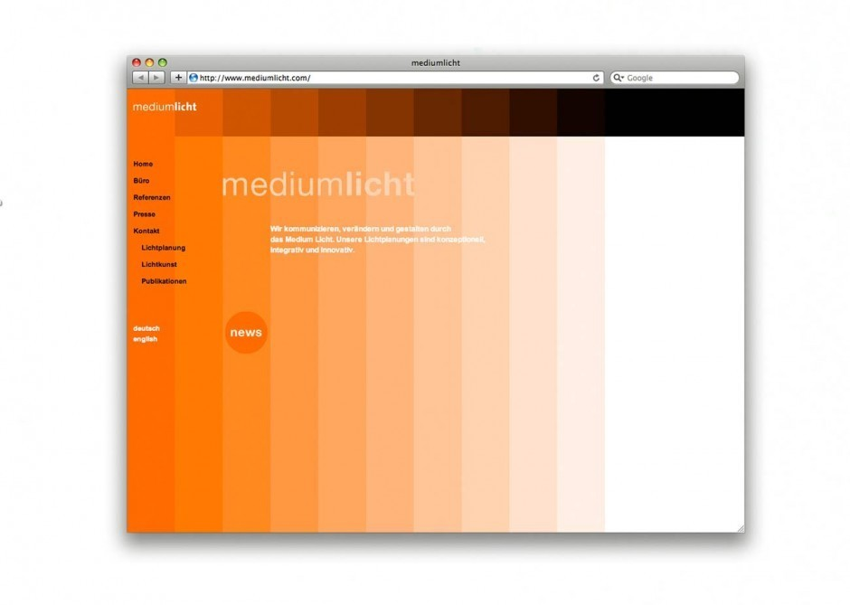 Mediumlicht Website