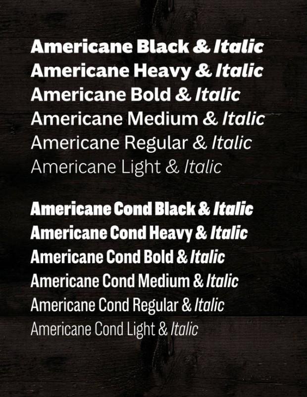 Americane und Americane Condensed