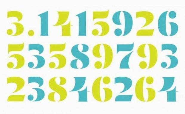 Mirna Stencil Display Numbers