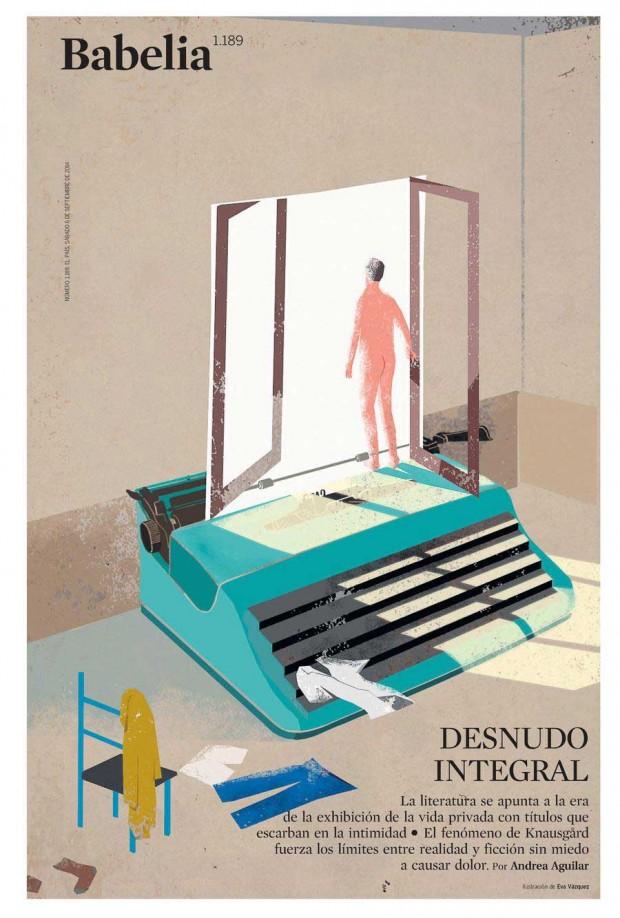Illustration: Eva Vázquez für die Literaturbeilage der spanischen Zeitung »El País«, http://www.evavazquezdibujos.com/