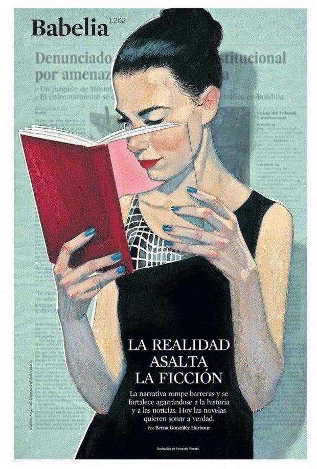 Illustration: Fernando Vicente für die Literaturbeilage der spanischen Zeitung »El País«, http://www.fernandovicente.es/