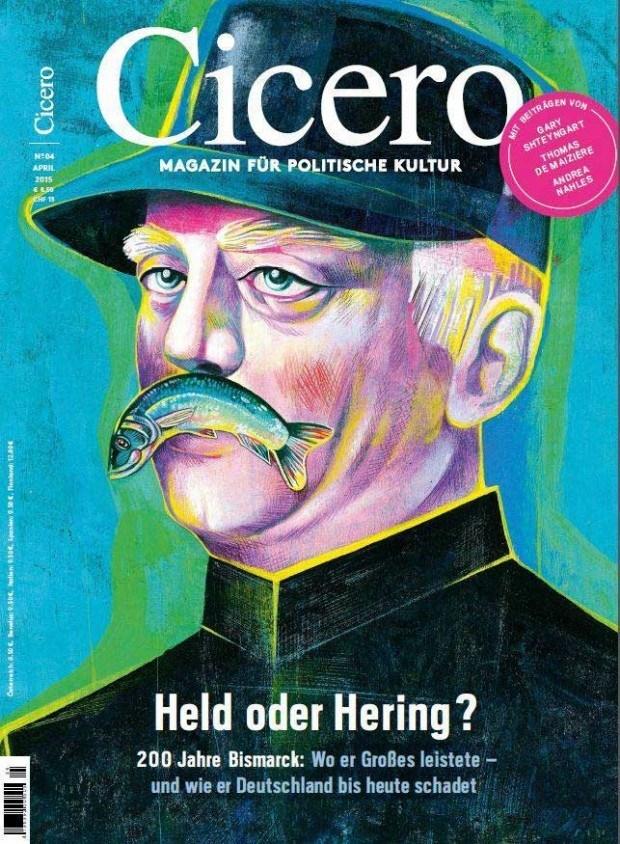Illustration: Recht respektlos ging Olaf Hajek mit Bismarck um, http://www.olafhajek.com/