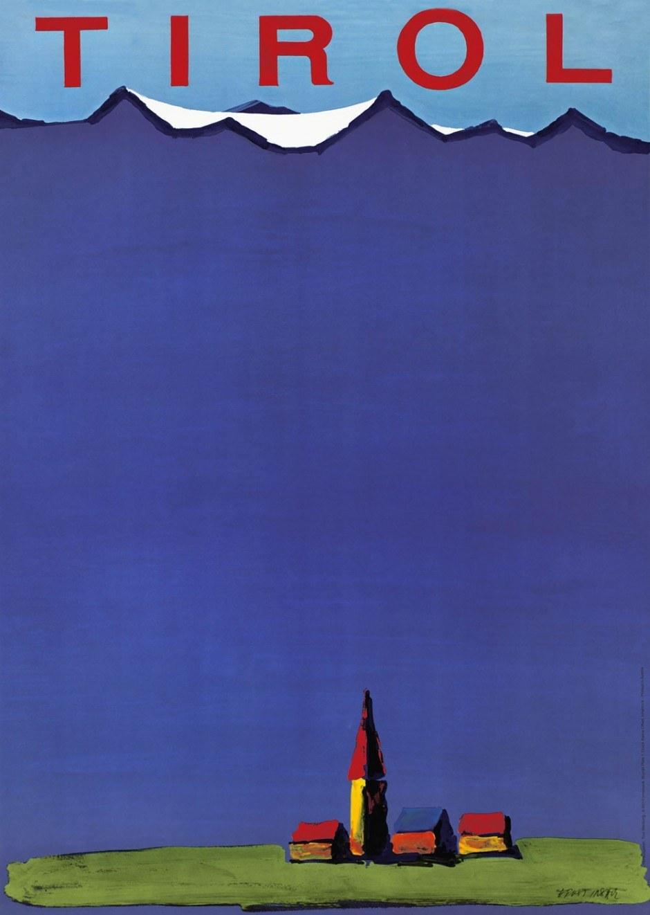 1972, Plakat, 58,8 × 81,7 cm, Tirol Werbung