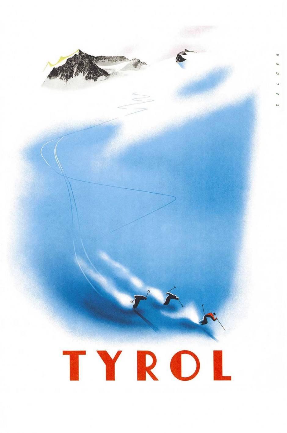 1948/49, Plakat, 63 × 95 cm, Tirol Werbung