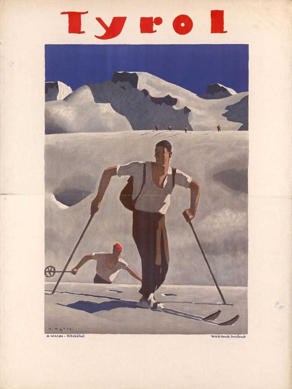 1932, Plakat, 80,4 × 107 cm, Tiroler Landesmuseum Ferdinandeum