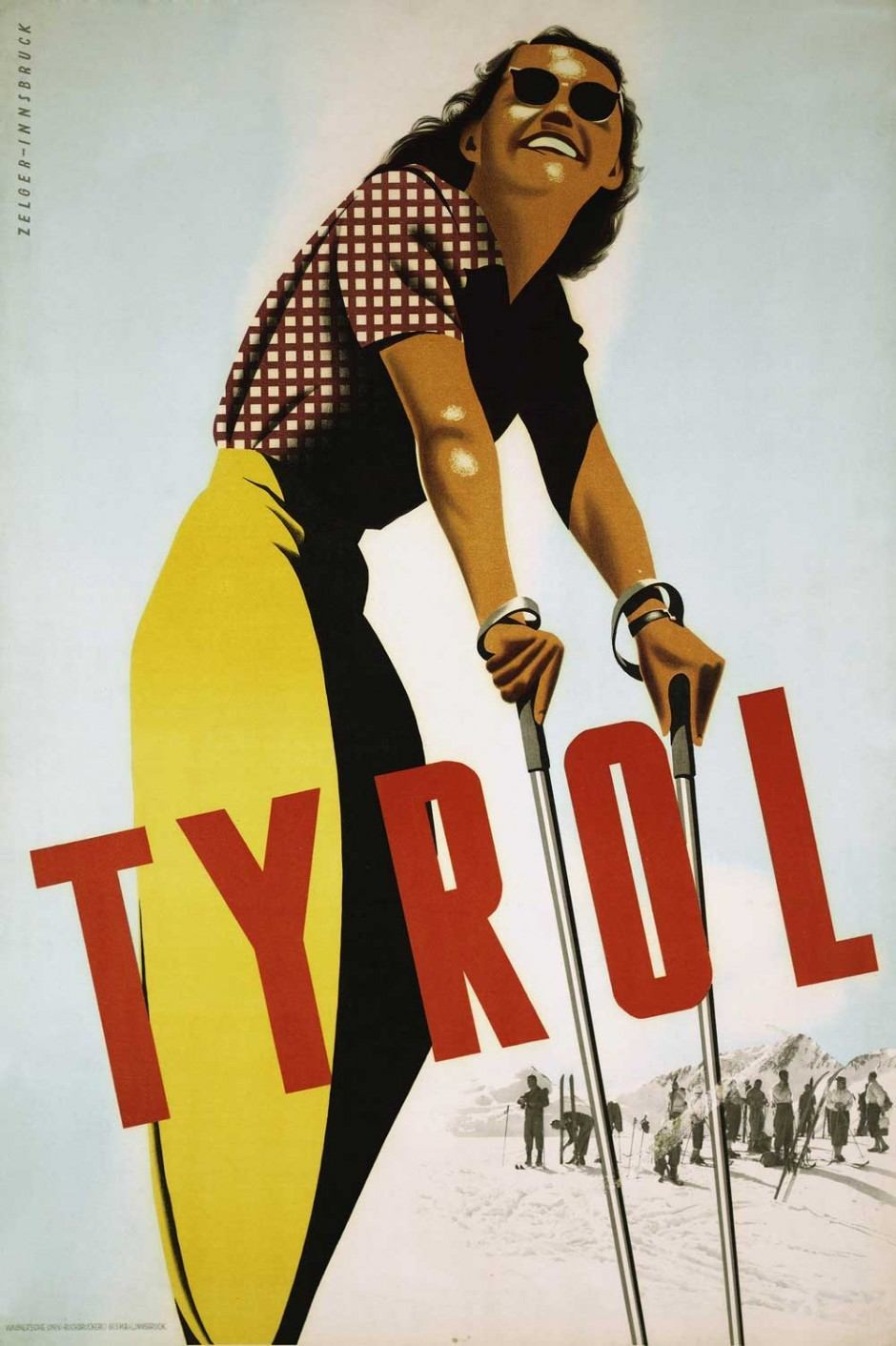 1949, Plakat, 61 × 91,7 cm, Tirol Werbung