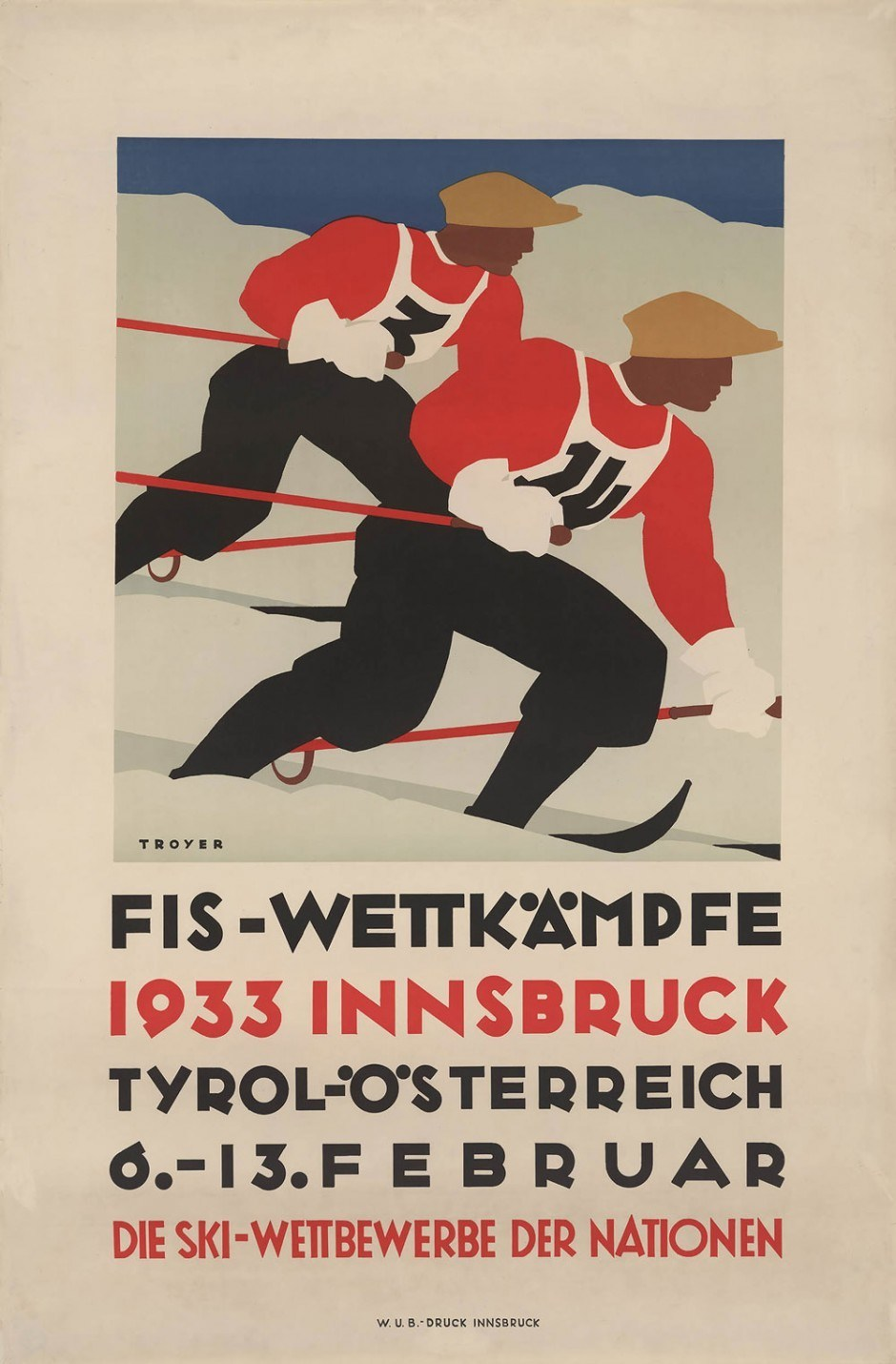 1933, Plakat, 62 × 94,4 cm, Tiroler Landesmuseum Ferdinandeum