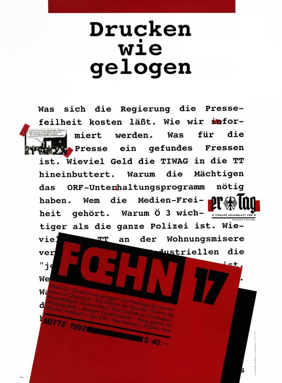 1992, Plakat, 62,5 × 85 cm, Markus Wilhelm