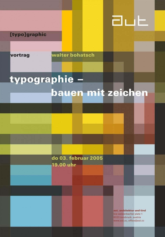 Plakat, 59,4 × 84,1 cm, Bohatsch Visual Communication