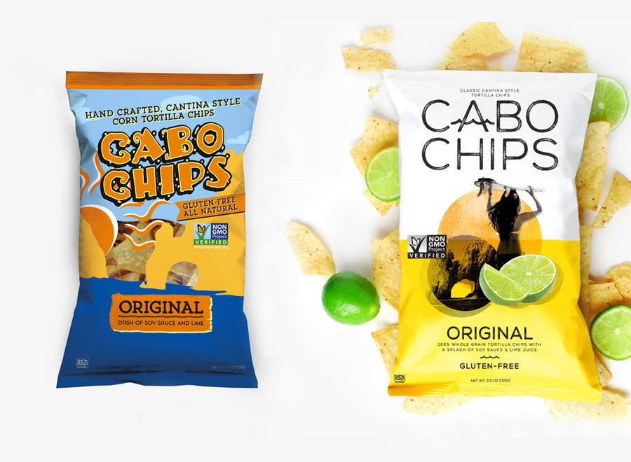 Packaging Design, Logo Design, Cabo Chips, Corporate Identity