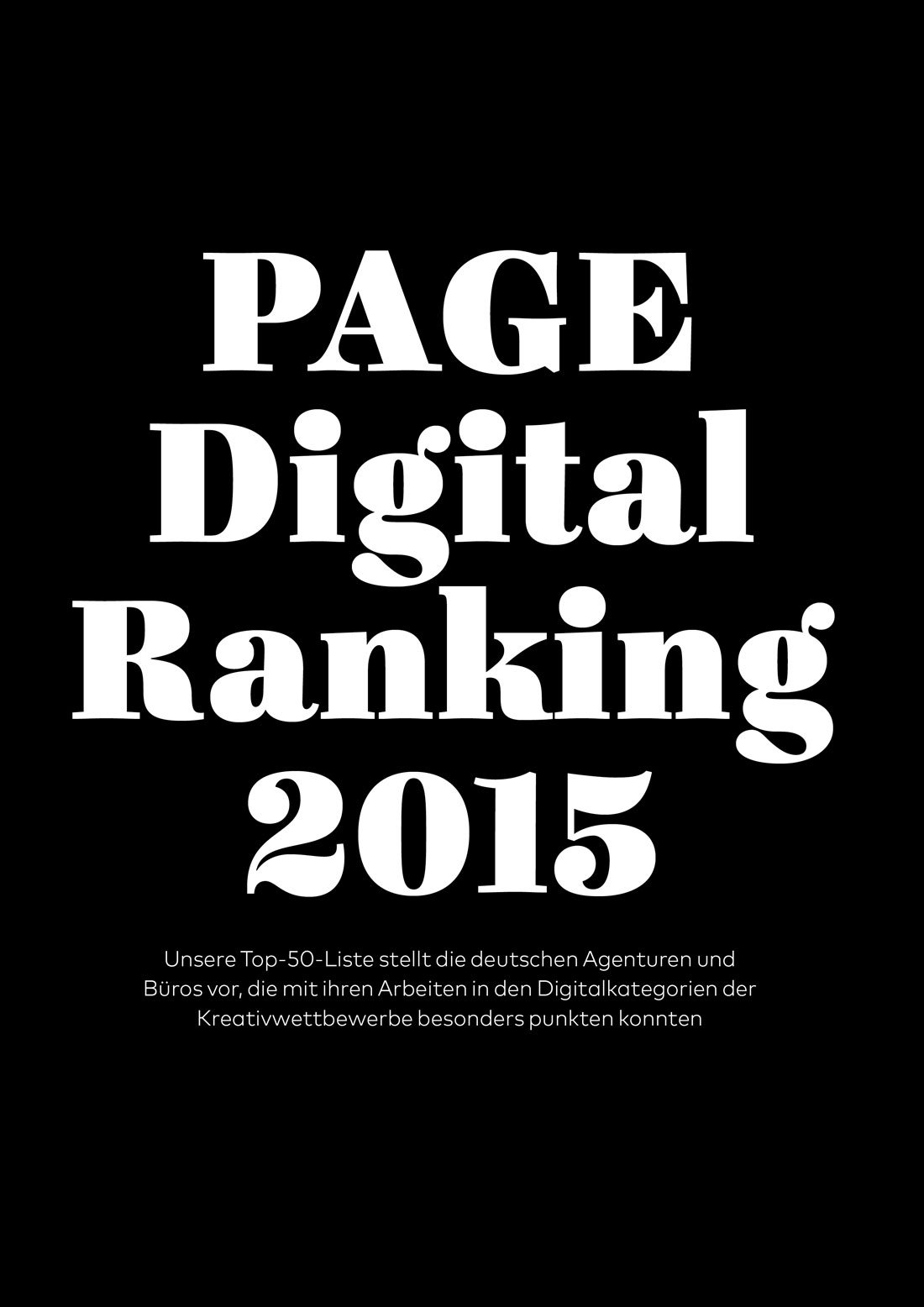 PAGE Digital Ranking 2015