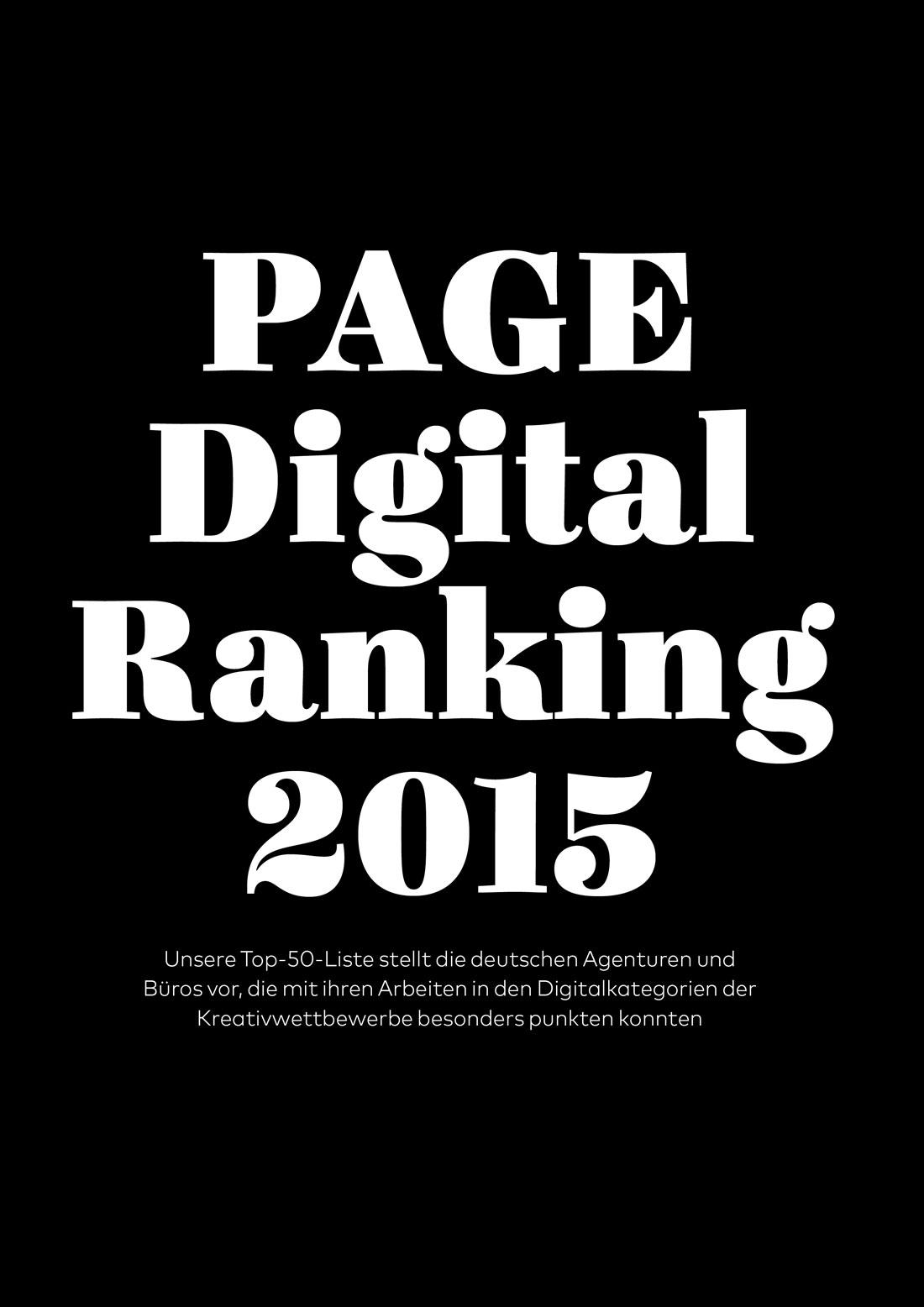PAGE Digital Ranking 2015
