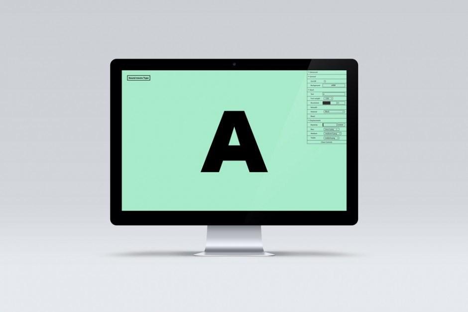 Software, die Sound benutzt um neue Zeichen zu kreieren