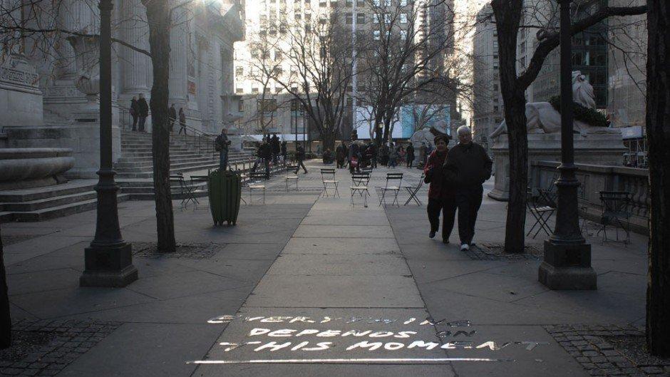 Typografische Installation – New York Public Library