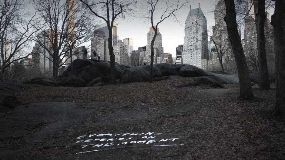 Typografische Installation – Central Park