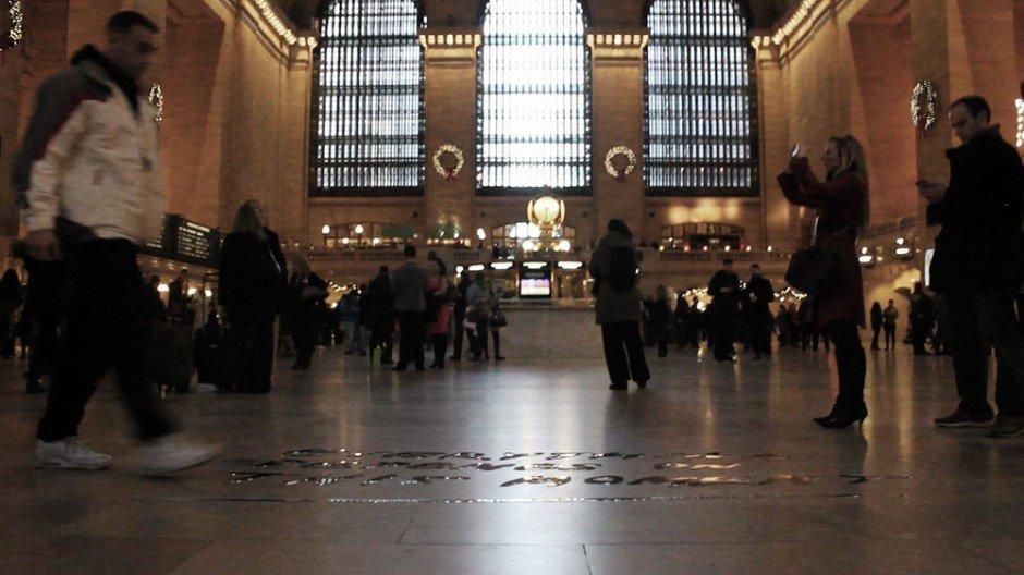 Typografische Installation – Grand Central Station