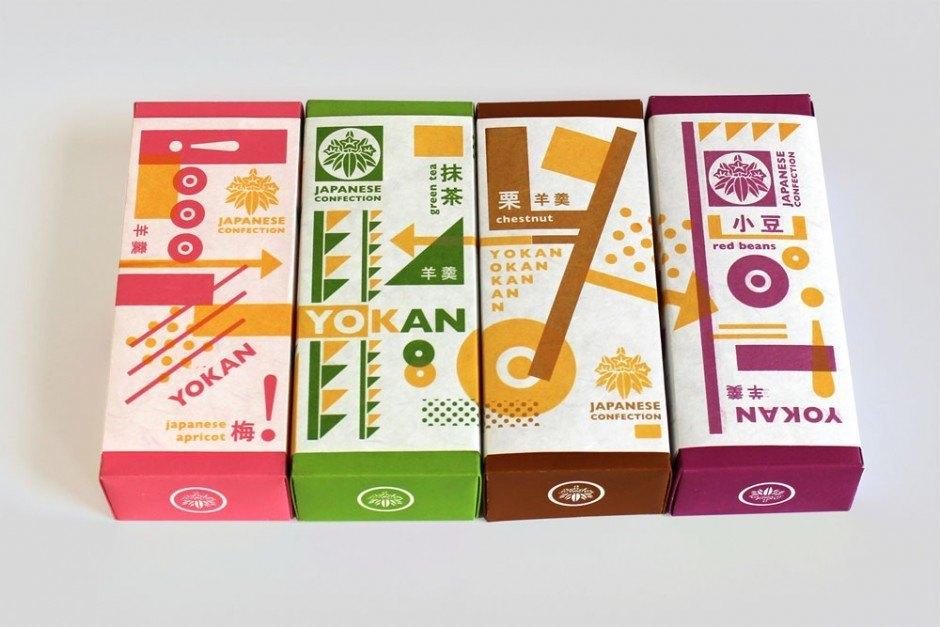 Verpackungsdesign für eine traditionelle japanische Süßigkeit