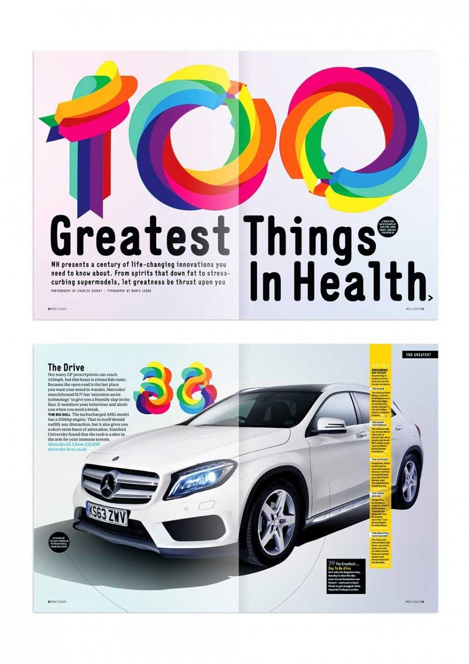 Pop Style Numbers for the Men's Health UK edition