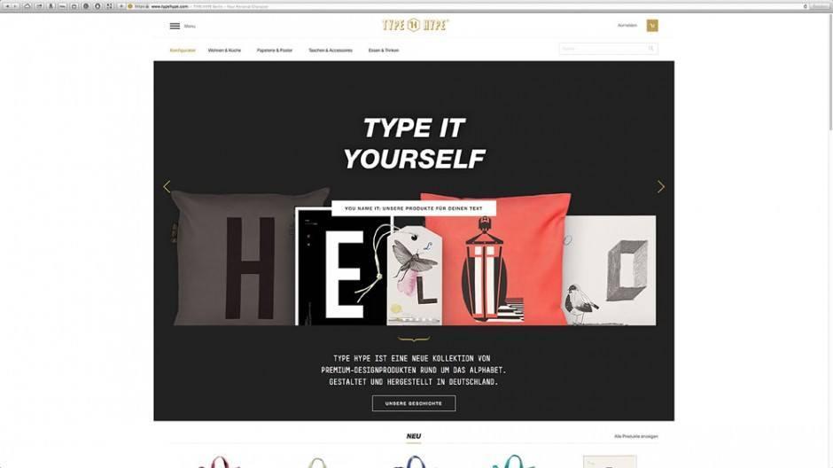 TYPE HYPE Onlinestore