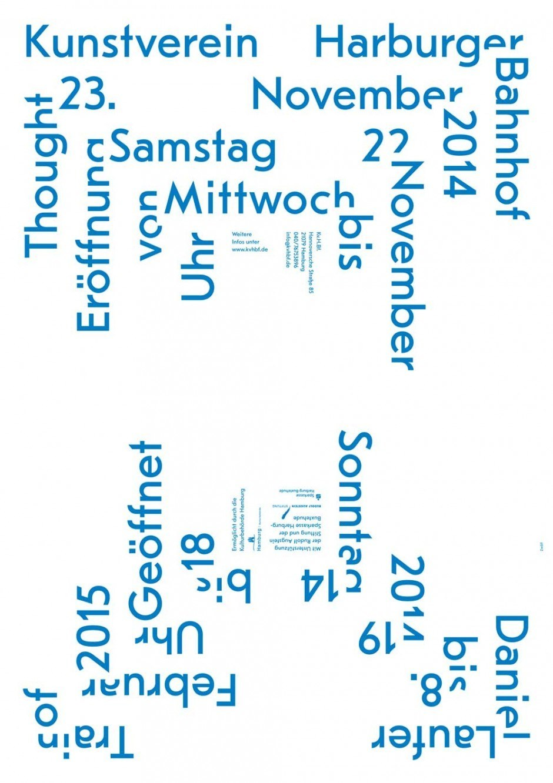 Plakat für eine Ausstellung des Künstlers Daniel Laufer